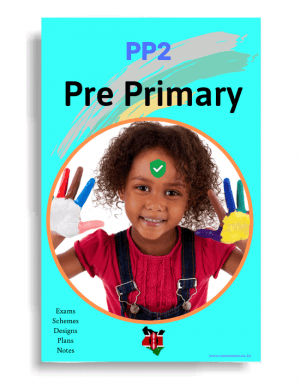 PP2 Pre Primary Exams, Schemes of work, CBC Design materials KICD Notes in Kenya on Somasasa